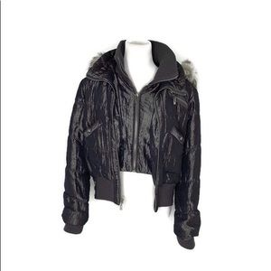 Women's Size large giacca hooded jacket